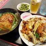 三福源 - 麺飯セット(回鍋肉丼+台湾ラーメン)