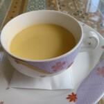 レストランミラベル - 【2021.6.24(木)】チキンカチャトラ980円のコーンスープ