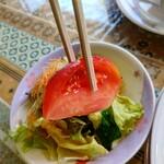 レストランミラベル - 【2021.6.24(木)】チキンカチャトラ980円の野菜サラダ