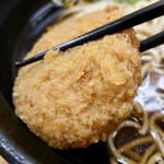 ふじ - コロッケそば(430円)