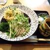 割子そば 柚子の木 - 料理写真:海老ゴロゴロ海鮮かきあげのぶっかけ。