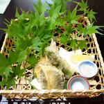 料亭 大宮 一の家 - ハーブ鮎と旬野菜の天ぷら