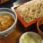 15356846 - ミニ丼(かつ丼)セット