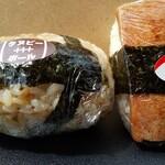 奥伊勢パーキングエリア(下り線)フードコート - 料理写真:タヌビーボール、スパムむすび。