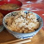 クロモンカフェ - ご飯は玄米