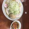 珍々亭 - 料理写真:チャーシュー油そば 大 1050円 ねぎ盛り 100円。味玉 100円トッピング。スープ 50円