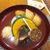 小田原おでん本店 - 料理写真:なみなみと注がれた出汁に驚き。5種類の練り物、大根・いんげん・かぼちゃが入る
