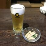マルヤス酒場 - 生ビール150円(税別)