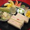 Y's - 料理写真:ハムチーズサンド&季節のフルーツ