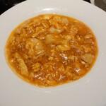 153614798 - メインは帆立貝と玉子のチリソース煮を選びました。