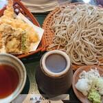 地鳥めん棒 玉川 - 料理写真:天ざる 1,650円