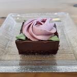 cafe こころひかる - Rawチョコケーキ(550円)