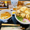 久兵衛 - 料理写真:海鮮かき揚げうどん と ミニカツ丼