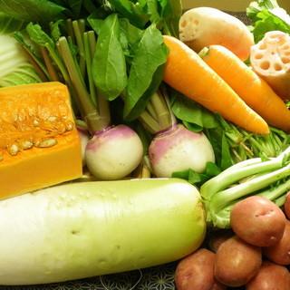 地元の野菜(地野菜)・有機野菜にこだわっています!