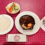 153630485 - 洋食キムラ@野毛店 ハンバーグセット(1450円)