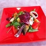 15364937 - ランチの前菜   お皿の色が…