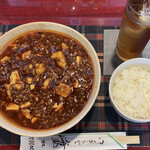 ダイニングキッチン 海里 1852 - 料理写真:「海里 激辛麻婆麺」@1000+「烏龍茶」@200  麻婆麺はライス付き