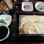 花坊 - 小天丼セット(もりうどん)1000円