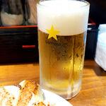 153652093 - 生ビール・サッポロラガー(小¥350)。小サイズの設定があるのは、良心的だね
