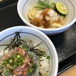 なか卯 - 料理写真:刺身しらすと生桜海老丼+すだちおろしうどん 740円