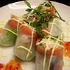 BAR SEA STONE - 料理写真:人気NO1のサーモンとツナのサラダロール¥880円