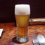 トラットリア パッパ - スーパードライ生ビール