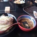 三田製麺所 - トリカラ3個とトンカラつけ麺