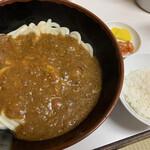 牧のうどん - カレーうどん(無料でご飯付き)