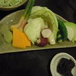 15368973 - お野菜と鯛味噌