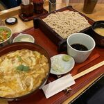 そばや 池乃家 - チーズ親子丼セット(蕎麦並盛り)
