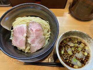 中華そば おしたに - 【期間数量限定】焼き煮干しつけそば 900円の麺大盛り+150円(2021年6月)