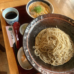 あずま - 親子丼セット 冷たい蕎麦 税込880円