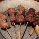 葡萄屋 - もち豚串焼き盛り合わせ