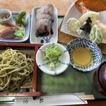 鮎宗 - 天ざる茶蕎麦セット