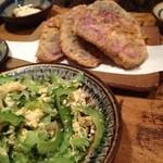 ぱやお - ゴーヤチャンプルーと紫芋天ぷら