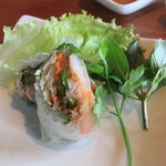 キンカオコン - ランチ 前菜の生春巻き