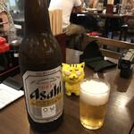 皆様酒場 大衆 昭和ゴールデン - 大瓶ビール430円で乾杯! ※キタさんは絶対!ビールは飲まないので、グラスは一つだけ