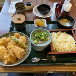 福乃家 - とり天丼セット 1,265円