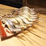 富小路 やま岸 - 朝獲れの京都産鮎。ピクピク身が踊ってました♬
