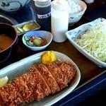 ゆき藤 - ロースかつ定食 戸倉