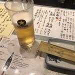 スタンド ソバサンカク+ヒツジホシ - 生ビール