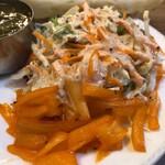 インディアン・パキスタンレストラン カナ - サラダはたっぷりの量