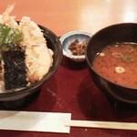まるさ水産 - まるさ天丼(ひかえめ )850円