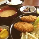 美好食堂 - 料理写真:日替り手作りメンチカツ定食(^^)