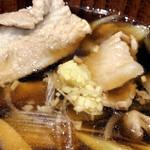 手打ちうどん 和 - 肉汁の刻み生姜