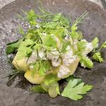 Flowers&Spanish Sonrisa - 千葉県初夏のホワイトグリーン(青かびチーズとカッテージチーズ、メロンとデラウェア、そしてハーブ)