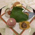 北瑞苑 - 可愛らしい小鉢の八寸。