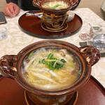 北瑞苑 - 信楽焼かな?かわいい一人鍋セット✩.*˚