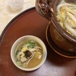 北瑞苑 - 若牛蒡、白魚、水菜、九条ネギ、針人参。お野菜たっぷりでヘルシーよ♡