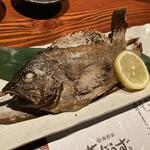 葱ぼうず - 白身魚の塩焼き(名前、忘れちゃった) ← メヌケ だそうです